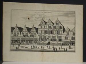 AMSTERDAM WALENWEESHUIS NETHERLANDS 1663 DAPPER ANTIQUE COPPER ENGRAVED VIEW