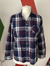 Ladies US Polo Assn Navy Cheque Button Up Shirt Immacutlate Cond Size XL