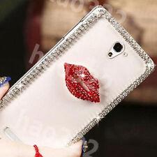 Bling Gems Diamonds Crystal Ultra-Thin Clear Soft Back TPU Gel Phone Case Cover