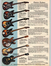 1972 PAPER AD Electric Guitars Hofner Beatle Bass Big Daddy Teisco Amplifier