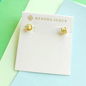 PRESLEIGH LOVE KNOT Kendra Scott gold stud earrings