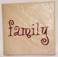 Family Ceramic Tile Wall Hanging Plaque Home Decor Decoration Made in Brazil