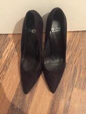 Gorgeous Black Suede Court Shoes Topshop Size 6