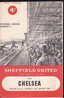 1961/62 SHEFFIELD UNITED V CHELSEA 20-01-1962 Division 1