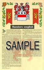 FLANDERS Armorial Name History - Coat of Arms - Family Crest GIFT! 11x17