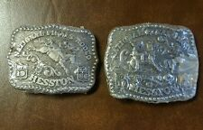 National Finals Rodeo Hesston '85 & '86 Small Youth NFR Buckles