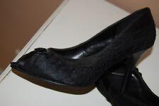 Damen Pumps Graceland schwarz Satin mit Spitze und Schleife Gr. 36 TOP ZUSTAND