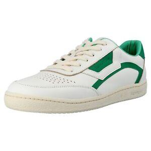 Marc O'Polo Herren Retro Sneaker Turnschuhe Court M1A Leder Schuhe Weiß Grün Neu