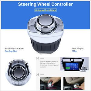 Cup Style Universal Wireless Car Steering Wheel Controller For GPS Navigation