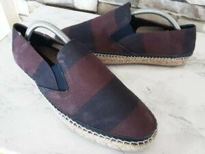Burberry Men's Espadrille Slip-On Canvas & Jute Shoes Size EU 41/US 8