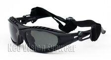 Shatterproof Foam Padded Motorcycle Glasses Sun Goggles Smoke Frame Black 453