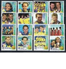 2000 Sydney Olympic Gold Medalists Set of 16 Digital Print MNH