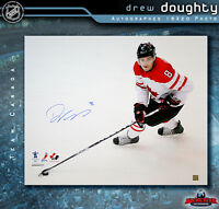 DREW DOUGHTY SIGNED Team Canada 16X20 Photo - Los Angeles Kings