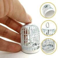 1:12 Simulation Puppenhaus Miniaturen Vogelkäfige Weiße offene emaill F4H1 O1U6