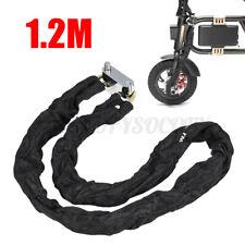"47"" Motorcycle Scooter Bike Heavty Duty Chain Lock Padlock Anti-theft Lock US"