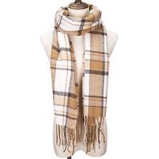 Ladies Fashion Checked Winter Warm Tartan Neck Shawl Scarf Wrap Stoles Plaid New