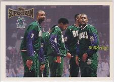 1996-97 TOPPS SUPER TEAMS #ST15: MILWAUKEE BUCKS/GLENN ROBINSON/BAKER/NEWMAN