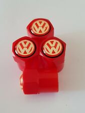 VW volkswagen valve DUST CAPS PLASTIC NON STICK All cars bikes 7 colours Jetta