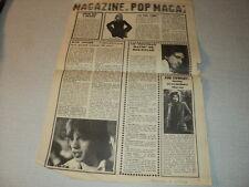 G206 ALAIN TURBAN ROD STEWART BOB DYLAN MICK JAGGER '1970 FRENCH CLIPPING