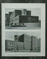 AC) Blatt Fritz Schumacher Hamburg 1931 Moderne Architektur Ober-Realschule