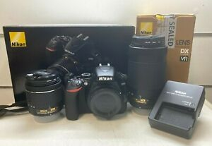 AS NEW Nikon D3500 24.2MP Digital SLR Camera Kit + 18-55mm and 70-300mm -From $1