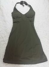 Athleta Pack Everywhere Olive Green Women's halter dress SMALL (A1)