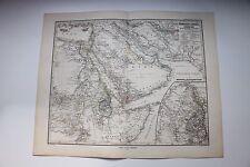 Carte de 1879, atlas Stieler,Gotha J. Perthes  Nordwet-Afrika & Arabien N°70