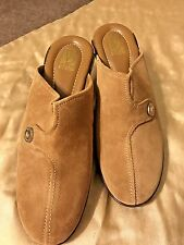 Nice-New Ladies Victoria Spenser Tan Suede Shoes Size 8