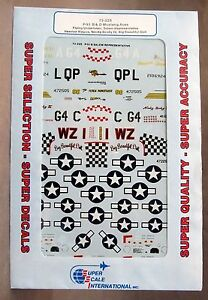 1/72 SuperScale Decals 72-325 P-51 B& D MUSTANG ACES mint