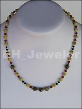 "Necklace Turquoise and Agate 19"" Semi-Precious Stone"