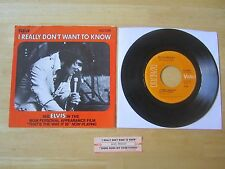 Elvis 45rpm record & Picture Sleeve, I Really Don't Want To Know,Jukebox Strip