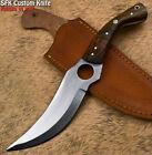 SFK Handmade D2 Tool Steel Walnut Wood Art Full Tang Hunting Knife
