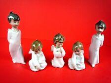 Set Of 5 Lladro Angel Christmas Ornaments