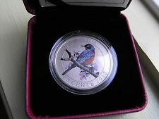 2013 25-CENT COLORED Coin  ROBIN     Bird series Royal Canadian Mint