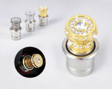 Gold 12V Crystal Car Power Plug Socket Output 20mm Cigarette Lighter Ignition