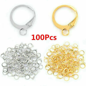 100x 925 Sterling Silver Leverback Earrings Wires Lever Back Findings Making