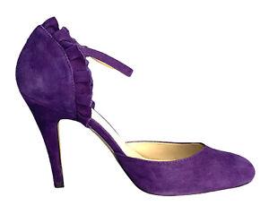 Basque Purple Suede Stiletto High Heels Size EU 40 AU 9