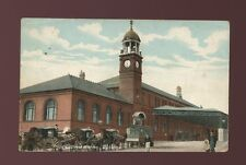 Lancashire Lancs BOLTON Trinity Street Railway Station exterior 1906 PPC