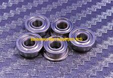 [QTY 10] SMF74zz MF74zz (4x7x2.5 mm) 440c Stainless Steel FLANGED Ball Bearing