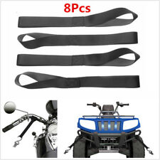 8x Black Soft Loop Tie Down Strap for Towing Cargo ATV UTV Motorcycle Snowmobile