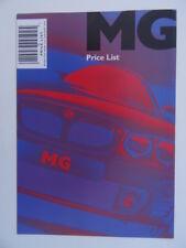 MG Price List 2002 - ZR, ZS, ZT, ZT-T, TF, 115,135, 120 Stepspeed,160. Mint.