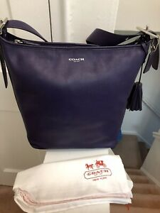 NWT Coach Legacy Duffle SV/Marine 31242E Purple Bucket, Tote, Shoulder Bag
