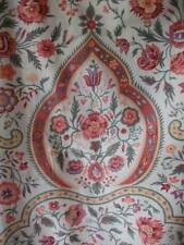"""Antique French Indienne Cotton Fabric  """" Tree Of Life"""" Long Panel"""