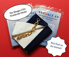 "FREE SHIPPING Large Gold & Silver Polishing Jewelry Cleaning Cloth 12"" x12"""