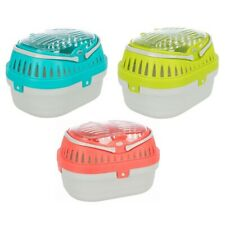 More details for trixie pico transport box small animal carrier & 2 handles - hamster gerbil mice
