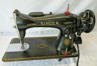 1950 Singer 15 91 Sewing Machine Gear Drive Heavy Duty AJ748167 (1851-1951)