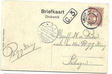 """Ansichtkaart  gefrankeerd .1c. met trein-ST: """"Amsterdam-Antwerpen"""" /  1921"""