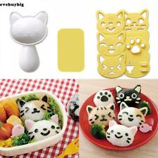 Cute Sushi Rice Ball Mold Onigiri Mould Nori DIY Maker Bento Tool Cat Shape