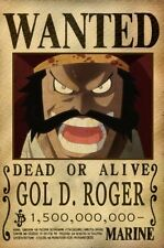 POSTER ONE PIECE GOL D. ROGER RUFY RUBBER WANTED TAGLIA LUFFY ANIME MANGA ACE #1