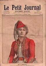 Portrait Melle Marie Delcia Werther Opéra Comique Paris France 1895 ILLUSTRATION